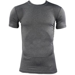 Wholesale Orange Gear - Wholesale- Compression Quick Dry T-shirt Base Layer Gear Tights Bodybuilding Short Sleeve T Shirt