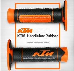 """Wholesale Ktm Accessories - 7 8"""" 22mm Motorcycle Hand Grips Handle Rubber Bar Gel Grip Modified Accessories for KTM Duke 125 200 390 690 990 EXC SMC"""