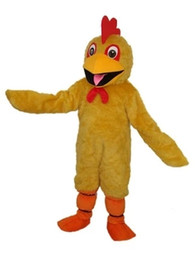 Wholesale Chicken Mascot Costumes - The yellow chicken character ACTS as the costume mascot of the animal costume mascots