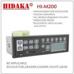 Wholesale Clock 12v - Wholesale-HIDAKA Factory Radio 12V In-Dash 1DIN Bluetooth USB AUX FM Radio MP3 Speaker Player Excavator Radio for Kobelco HITACHI Sumitomo