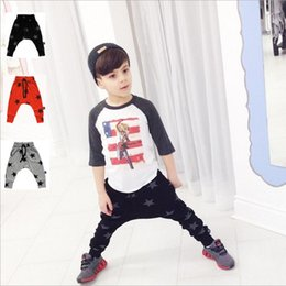 Wholesale Baby Star Leggings - Baby PP Pants Boys Harem Pants Toddler Cartoon Cropped Trousers Kids Animal Stripe Leggings Print Girls PP Pants Star Dot Tights New B2263