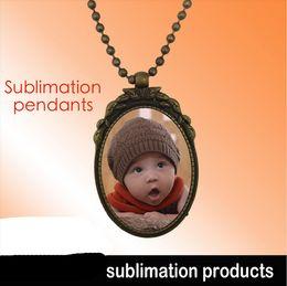Wholesale Custom Design Wholesale Jewelry - Sublimation Blank pendants Europe court style women popular individuality necklace custom picture photos design pendant jewelry M26