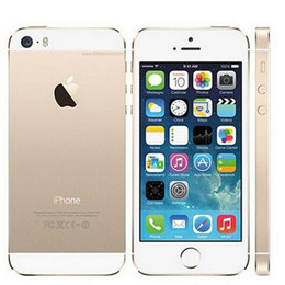 Wholesale Wholesale Unlocked Iphone Gold - Authentic Refurbished iPhone 5s 4inch 16GB 32GB 64GB ROM 8MP camera iphone6 Dual Core without fingerprint Unlocked Cell Phone sealed box