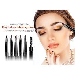 Wholesale Automatic Brush - NICEFACE Eyebrow Pencil Waterproof 2 in 1 Durable Automatic Eyebrow Enhancer Brush Long Lasting Eye Makeup Tool 1224003