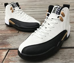 Wholesale Mens Chinese Shoes - New Chinese New Year 12s Reflective White Black Gold Basketball shoes men 2016 cheap mens CNY 12 sneakers for sale with shoes box