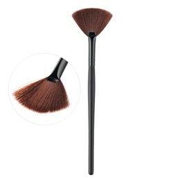 Wholesale Black Highlights - 1pcs Slim Fan Shape Make up Concealer Blending Finishing Contour Highlighter Highlighting Powder Makeup Cosmetic Brush Pen