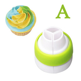Wholesale Dessert Decoration - Three Colors Cream Transverter Decorating Tri-Color Piping Converter Coupler, Nozzles Adaptor Cake Decoration Tool Creative style design