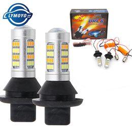 Wholesale Bmw Dual - ba15s BAU15S 1156 p21w s25 42led T20 W21W WY21W 7440 light Daytime Running Light+Turn Signal Dual Mode DRL LED External Lights
