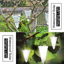 solar supply led Canada - Wholesale-Waterproof Solar Power Hanging Light 3 Emitting Colors Energy Saving Lamp Outdoor Decorative LED Lights for Garden Xmas Supplies