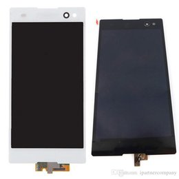 Wholesale Mobile Lcd Replacement Parts - For SONY C3 D2533 original LCD assembly with high copy touch glass mobile phones screen replacement parts 100% testing before shipment