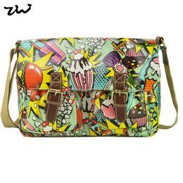 Wholesale Owl Brand Handbag - Wholesale- ZIWI Brand Oilclotch Women's Handbags Fashion Flower Print Owl   Butterfly Satchel Bag QQ1624-1