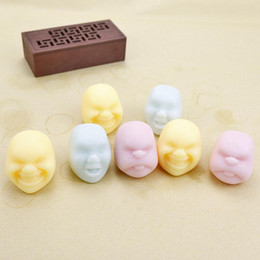 Wholesale Gadget Boy - Soft Vent Toy Human Face Anti-stress Ball Relax Toy Colorful Geek Gadget Funny Novelty Gift For Children Boys Girls
