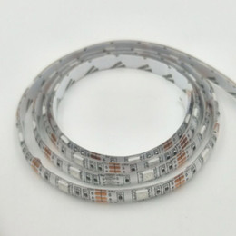 Wholesale 12v Led Lights Multicolor - 72W 5Meter waterproof IP65 RGB Multicolor White PCB Board 1M 60LED 14.4W SMD5050 LED Lighting lamp Flexible Strip with 3M Glue DC12V