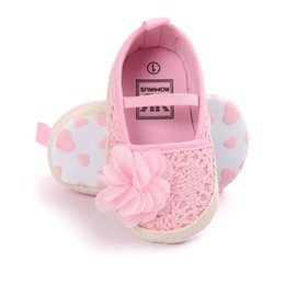 Wholesale Mary Jane Shoes For Girls - Wholesale- ROMIRUS 2017 New Fashion Princess Girls Baby Ballerina Hollow Floral Crib Babe Mary Jane Shoes Dress First Walker For Newborn