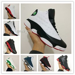 Wholesale Men S Leather Trainers - (With Box) Cheap Retro+ XIII CP3 Basketball Shoes Retro 13 13s Black Orion Blue Sunstone Athletics Sneaker Men Sports shoe 13's Trainers