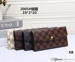 Wholesale Man Genuine Leather Clutch - Hot Men Famous Wallets Fashion L Brand Women Long Purse GG6J Arteira Masculina Lous V Ladies Purse Luxury Brand Vutton Carteras