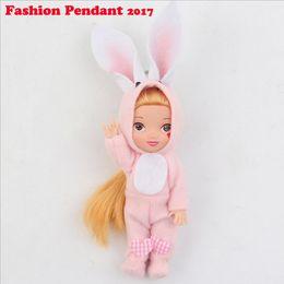 Wholesale Wholesale Keychains Korea - 16cm Kawaii Mini Fashion Ddung Doll Toys Korea Ddung Plush Doll Toy cartoon Keychain Phone Pendant Girls Birthday Gift
