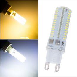 Wholesale G9 Halogen Lamp Light Bulb - 9W 104LED 3014SMD LED G9 LED Corn Bulbs 110V 220V Replace 100W halogen lamp 360 Beam Angle LED Bulb lamp Chandelier Crystal Candle light