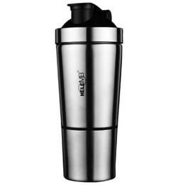 Wholesale Protein Powder Bottle - fashion water bottle Stainless Steel Protein Mixer Blender Shaker Shaking bottle Sports Fitness Gym Tool Protein powder