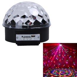 Wholesale Magic Ball Bluetooth - Wholesale- Remote Control USB Bluetooth MP3 LED Stage Magic Ball Lighting Lamp UK Plug