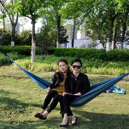 Wholesale Camping Chair Wholesale - Portable Cotton Camping Hammocks Swing Outdoor Thickening Canvas Hammock Stripe Hanging Chairs For Home Garden Decor 11th B R