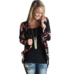 Wholesale Crochet Basics - Wholesale-2016 Autumn Winter Printed Cardigan Women Long Sweater Woman Long Sleeve Irregular Cardigans Basic Jacket Coat Outwear Sep21