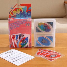 Wholesale Uno Card Game Plastic - Luxury Waterproof Plastic Fold Version UNO Card Poker Game Playing Cards Party Family Friends Play Card Games