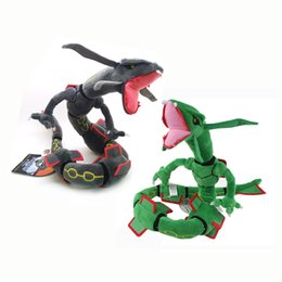 """Wholesale Video Game Center - Hot New 2 Styles 31.5"""" 80CM Center XY Japan Rayquaza Poke Doll Anime Collectible Plush Dolls Stuffed Animals Best Gifts Soft Toys"""