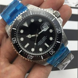 Wholesale Sea Dwellers - 2017 new Luxury Wristwatch Basel Red SEA-DWELLER Stainless Steel 43mm Watch 126600 Automatic Mens Watch New Arrival free shipping
