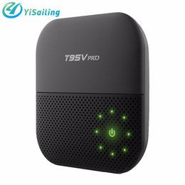 Wholesale Android Usb Tuner - T95V PRO Android 6.0 2GB 16GB Amlogic S912 Smart Android TV box Octa-core 2.4G 5G WIFI Bluetooth 1000M Lan top Box pk X96 box