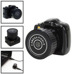 Wholesale Mini Pc Web Cam - Y2000 Hot Sale Mini Smallest HD Video Camera 720P Mini Pocket DV DVR Portable Camcorders Micro Digital Recorder USB PC Web Cam