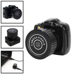 Wholesale Mini Usb Web Cams - Y2000 Hot Sale Mini Smallest HD Video Camera 720P Mini Pocket DV DVR Portable Camcorders Micro Digital Recorder USB PC Web Cam