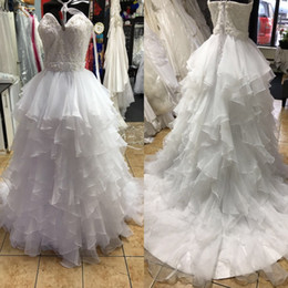 Wholesale Long Sweetheart Dresses Belts - Ball Gown Wedding Long Dress 2017 Wedding Dresses Sweetheart Princess Church Bridal Gowns with Belt