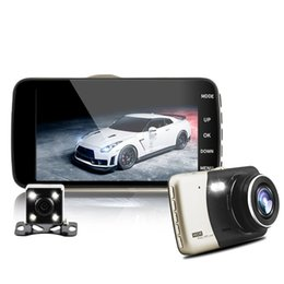 Wholesale Vehicle Motion Detector - dual lens IPS vehicle car dvr auto camcorder camera cars dvrs carcam dash cam full hd 1080p parking recorder video registrator cameras