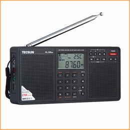 Wholesale New Portable Stereo Radio - Wholesale-2016 New Arrival Tecsun PL-398MP Portable Radio fm Stereo has MP3 Playback Function(With SD Card Slot ) Full-band Stereo Radio