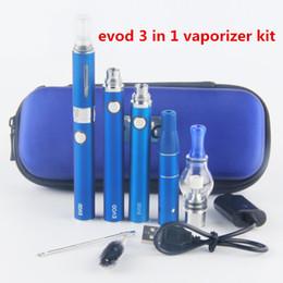 Wholesale Evod Sets - e cigs vape mod sets Evod 3 in 1 dry herb oil Glass Globe Wax Vaporizer Pen Kit dabber pen Ago G5 MT3 Glass globe tank Starter Kits