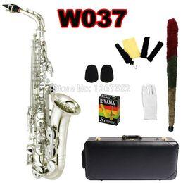 Wholesale Brass Instrument - Wholesale- Newest Yanagisawa Japan Alto Saxophone Eb Sax W037 Silver Plated Brass Instruments Music Professional Saxofone Alto E Flat