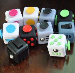 Wholesale Cube World Toys - 2017New Hot Sale Fidget Cube worlds first American Decompression Cubes Anti Anxiety Dice Square Finger Toy