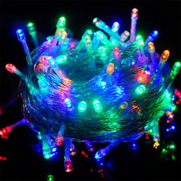 Wholesale Twinkling Stars Christmas Lights - 10M 100 LED fancy ball Lights Decorative Christmas Party Festival Twinkle String Lamp garland 9 Colors Free Shipping