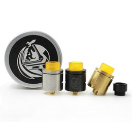 Wholesale Rebuildable Dripping Atomizer Sale - Hot Sale COSMONAUT RDA CSMNT Atomizer Clone Rebuildable 24K Gold Plated Deck 24mm Wide Bore Drip Tips 510 Mod RDA Ecigs Atomizer