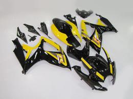 carenado gsxr amarillo Rebajas Kit de carenado de motocicleta para SUZUKI GSXR600 750 2006 2007 GSXR 750 K6 06 07 GSXR 600 ABS Amarillo negro Carenados conjunto MN19