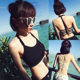 Wholesale Vest Top Sexy - 2017 Womens Summer Sexy Crop Tops Bustier Bra Vest Crop Top Bralette Padded Bra Wrap chest Beachwear