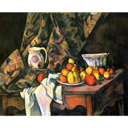 2019 paisajes pinturas flores Still Life with Flower Holder por Paul Cezanne Landscapes Pinturas para la decoración de la sala pintadas a mano paisajes pinturas flores baratos