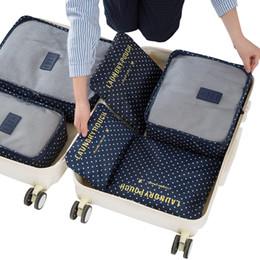 Wholesale Bulk Stuffed - 6pcs set Travel Storage Bags Shoes Clothes Toiletry Clothes Luggage Pouch Kits Wholesale Bulk Lots Accessories Supplies Stuff
