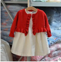Wholesale Girls Lace Cardigan Coat - Girls Knitting outwear Kids Fungus lace Cardigan sweater fashion child velvet coat Chinese Style short shawl Girls clothes G0695