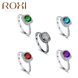 Wholesale Crystals Diamond Stones - hot Selling new fashion jewelry High quality Mosaic zircon wholesale authentic diamond wedding gold ring free shipping