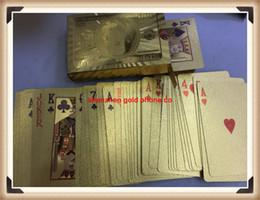 Set di carte da poker placcato in oro 24K con pacchetto tradizionale Set con pacchetto carte da gioco in oro gratuito da collezione, carte da gioco gratuite, carte online da