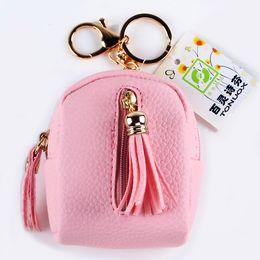 Wholesale Hip Hop Style Girl - Coin Purse Fashion Woman Wallet Short Tassel Zipper Girls Purses Burse Mini Bag Lady Money Cards Bags With Golden Buckle Wallets
