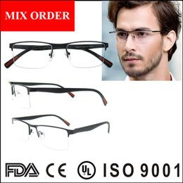 Wholesale Frame Glasses Online - men eye glasses frame, hot popular metal fashion reading glasses with spring hinge,2017 online wholesale optical eyewear