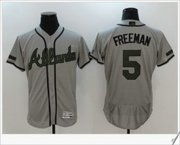 Wholesale M Pro - Mens 2017 Memorial day Atlanta Braves #5 Freddie Freeman Custom Cheap Embroidery Baseball Shirts Stitched Sports Pro Team Jerseys Sz M-XXXL